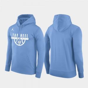 North Carolina Tar Heels Hoodie Pullover Basketball Drop Circuit Carolina Blue Mens