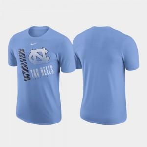 North Carolina Tar Heels T-Shirt Carolina Blue Just Do It Men's Performance Cotton