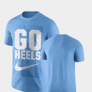North Carolina Tar Heels T-Shirt Carolina Blue Legend Franchise Performance Men