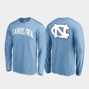 North Carolina Tar Heels T-Shirt Carolina Blue Primetime Long Sleeve For Men's