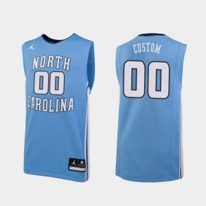 North Carolina Tar Heels Customized Jersey #00 College Basketball Carolina Blue For Men's Replica