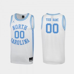 North Carolina Tar Heels Customized Jerseys March Madness #00 Special College Basketball White Men's