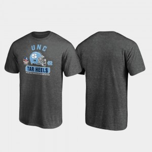North Carolina Tar Heels T-Shirt For Men Heather Gray Spike 2019 Military Bowl Bound