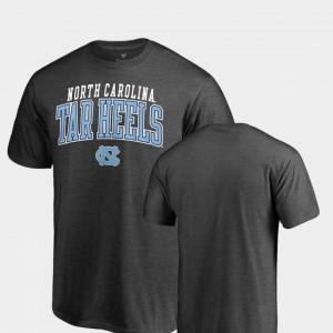 North Carolina Tar Heels T-Shirt Heathered Charcoal Square Up For Men