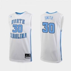 North Carolina Tar Heels K.J. Smith Jersey Men #30 Replica College Basketball White