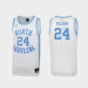 North Carolina Tar Heels Kenny Williams Jersey March Madness Men's Special College Basketball #24 White