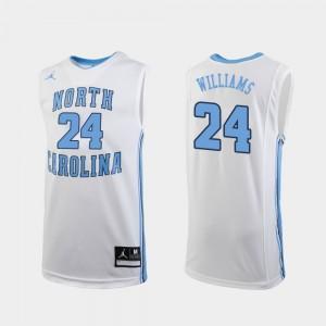 North Carolina Tar Heels Kenny Williams Jersey White College Basketball Men's #24 Replica