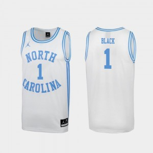 North Carolina Tar Heels Leaky Black Jersey White March Madness Mens #1 Special College Basketball