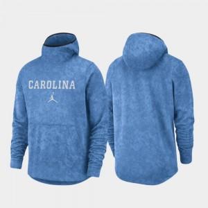 North Carolina Tar Heels Hoodie Light Blue Spotlight For Men's Basketball Team Logo Pullover
