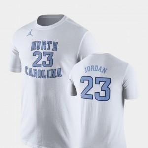 North Carolina Tar Heels Michael Jordan T-Shirt Future Stars #23 Basketball Replica White Mens