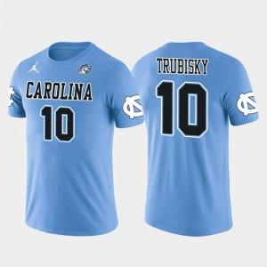 North Carolina Tar Heels Mitchell Trubisky T-Shirt Light Blue #10 Future Stars For Men's Chicago Bears Football