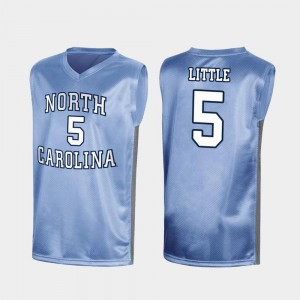 North Carolina Tar Heels Nassir Little Jersey #5 For Men March Madness Royal Special College Basketball