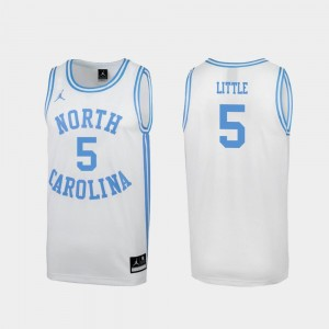 North Carolina Tar Heels Nassir Little Jersey #5 White Special College Basketball March Madness For Men's