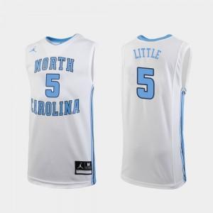 North Carolina Tar Heels Nassir Little Jersey White Men Replica #5 College Basketball