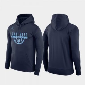 North Carolina Tar Heels Hoodie Basketball Drop Circuit Pullover Men Navy