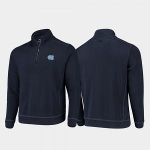North Carolina Tar Heels Jacket Half-Zip Pullover Tommy Bahama Navy For Men College Sport Nassau