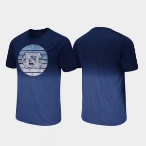 North Carolina Tar Heels T-Shirt Dip Dye Navy For Men Fancy Walking