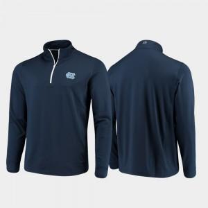 North Carolina Tar Heels Jacket Quarter-Zip Performance Mens Navy Gameday