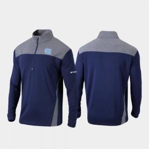 North Carolina Tar Heels Jacket Navy Quarter-Zip Pullover Men Omni-Wick Standard