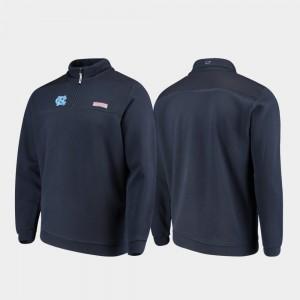 North Carolina Tar Heels Jacket Quarter-Zip Shep Shirt Navy Mens