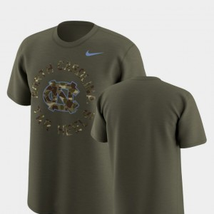North Carolina Tar Heels T-Shirt Men's Legend Camo Olive