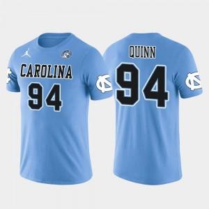 North Carolina Tar Heels Robert Quinn T-Shirt Future Stars #94 Miami Dolphins Football Light Blue Men's