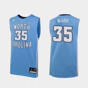 North Carolina Tar Heels Ryan McAdoo Jersey Replica For Men Carolina Blue #35 College Basketball