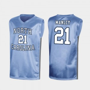 North Carolina Tar Heels Sterling Manley Jersey Men's Special College Basketball #21 Royal March Madness