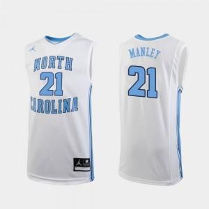 North Carolina Tar Heels Sterling Manley Jersey Men College Basketball White #21 Replica