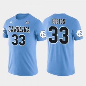 North Carolina Tar Heels Tre Boston T-Shirt Light Blue Arizona Cardinals Football For Men's Future Stars #33