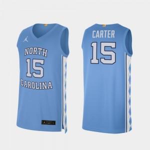 North Carolina Tar Heels Vince Carter Jersey College Basketball Alumni Limited #15 For Men's Carolina Blue