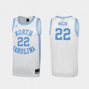 North Carolina Tar Heels Walker Miller Jersey White For Men's #22 March Madness Special College Basketball