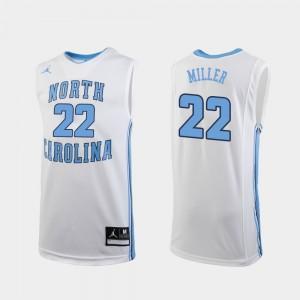 North Carolina Tar Heels Walker Miller Jersey For Men's White #22 College Basketball Replica