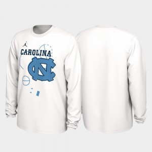 North Carolina Tar Heels T-Shirt 2020 March Madness White Men's Our Time Bench Legend