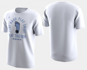 North Carolina Tar Heels T-Shirt Mens March Madness Bench Basketball Tournament White