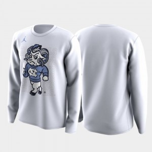 North Carolina Tar Heels T-Shirt For Men White March Madness Legend Basketball Long Sleeve Family on Court