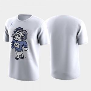 North Carolina Tar Heels T-Shirt White March Madness Legend Basketball Performance Men Family on Court