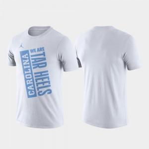 North Carolina Tar Heels T-Shirt For Men White Basketball Performance Just Do It