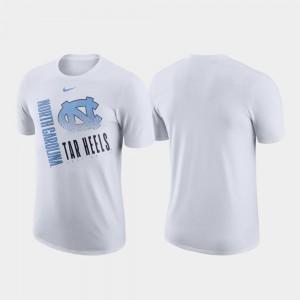North Carolina Tar Heels T-Shirt Just Do It White Performance Cotton For Men's