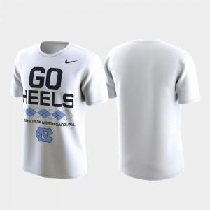 North Carolina Tar Heels T-Shirt For Men's Performance Local Verbiage White