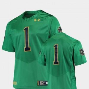 Notre Dame Fighting Irish Jersey Premier College Football #1 Kelly Green Men's
