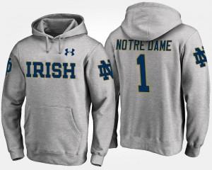 Notre Dame Fighting Irish Hoodie No.1 Men's Gray #1