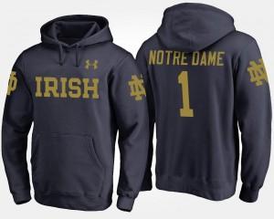 Notre Dame Fighting Irish Hoodie For Men's #1 Navy No.1