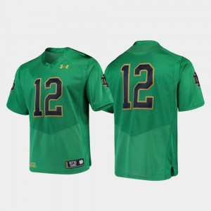 Notre Dame Fighting Irish Jersey Green Premier #12 College Football For Men's
