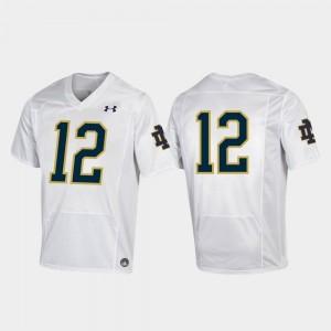 Notre Dame Fighting Irish Jersey White Premier Mens #12 College Football