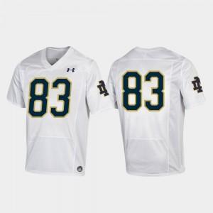 Notre Dame Fighting Irish Jersey Replica #83 Men White Football