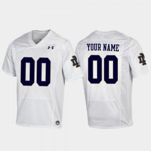 Notre Dame Fighting Irish Customized Jersey For Men Football White #00 Replica