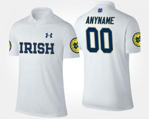 Notre Dame Fighting Irish Customized Polo White #00 Men's