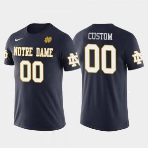 Notre Dame Fighting Irish Customized T-Shirts Cotton Football Future Stars Mens #00 Navy