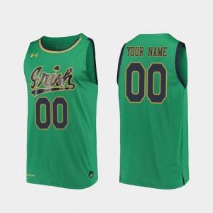 Notre Dame Fighting Irish Customized Jerseys 2019-20 College Basketball Kelly Green Replica #00 For Men